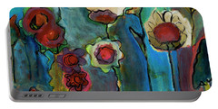 Portable Battery Charger featuring the painting My Mother's Garden by Susan Stone