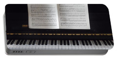 Portable Battery Charger featuring the painting My Piano by Esther Newman-Cohen