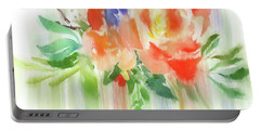 Portable Battery Charger featuring the painting My Roses Gently Weep by Colleen Taylor