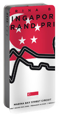My Singapore Grand Prix Minimal Poster Portable Battery Charger