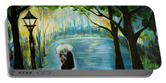 Portable Battery Charger featuring the painting My Soulmate by Leslie Allen