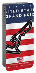 My United States Grand Prix Minimal Poster Portable Battery Charger