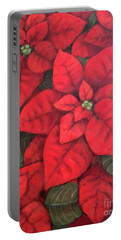 My Very Red Poinsettia Portable Battery Charger by Inese Poga