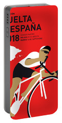 My Vuelta A Espana Minimal Poster 2018 Portable Battery Charger