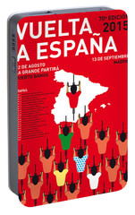 My Vuelta A Espana Minimal Poster Etapas 2015 Portable Battery Charger by Chungkong Art