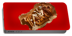 Portable Battery Charger featuring the digital art Myan Wall Art D by Francesca Mackenney