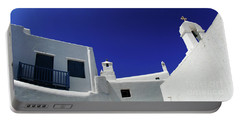 Portable Battery Charger featuring the photograph Mykonos Greece Clean Line Architecture by Bob Christopher