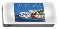 Mykonos Little Venice - Blue Portable Battery Charger