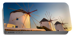 Mykonos Windmills Portable Battery Charger
