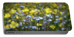 Myosotis With Yellow Flowers Portable Battery Charger