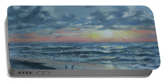 Myrtle Beach Sunrise Portable Battery Charger by Kathleen McDermott