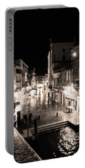 Mysterious Venice Monochrom Portable Battery Charger
