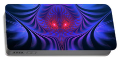 Portable Battery Charger featuring the digital art Mystery by Jutta Maria Pusl