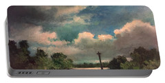 Portable Battery Charger featuring the painting Mystery Of God  The Eye Of God by Randol Burns