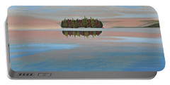 Portable Battery Charger featuring the painting Mystic Island by Kenneth M  Kirsch