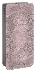 Portable Battery Charger featuring the digital art Mystic Pink. Art by Oksana Semenchenko