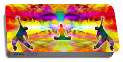 Portable Battery Charger featuring the digital art Mystic Universe 11 by Derek Gedney