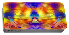 Portable Battery Charger featuring the digital art Mystic Universe 12 by Derek Gedney