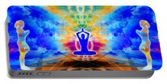 Portable Battery Charger featuring the digital art Mystic Universe 13 by Derek Gedney