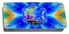 Portable Battery Charger featuring the digital art Mystic Universe 13 Kk2 by Derek Gedney