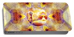 Portable Battery Charger featuring the digital art Mystic Universe 14 Kk2 by Derek Gedney