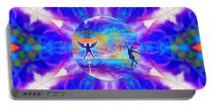 Portable Battery Charger featuring the digital art Mystic Universe 15 Kk2 by Derek Gedney