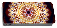 Portable Battery Charger featuring the digital art Mystic Universe 7 Zodiac Lattice by Derek Gedney