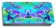 Portable Battery Charger featuring the digital art Mystic Universe 8 by Derek Gedney