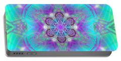 Portable Battery Charger featuring the digital art Mystic Universe 8 Kk2 by Derek Gedney