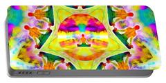 Portable Battery Charger featuring the digital art Mystic Universe Kk 11 by Derek Gedney