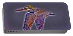 Mystical Brown Pelican Soaring Spirit Portable Battery Charger
