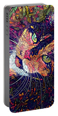 Mystical Calico  Portable Battery Charger by Geri Glavis