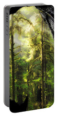 Mystical Forest Opening Portable Battery Charger by Leland D Howard