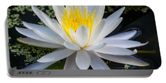 Mystical Lotus Portable Battery Charger by Kenneth Albin