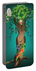 Mystical Maiden Tree Portable Battery Charger by Serena King