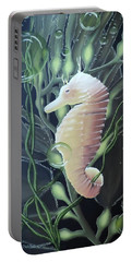 Portable Battery Charger featuring the painting Mystical Sea Horse by Dianna Lewis