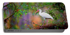 Mystical White Ibis Portable Battery Charger