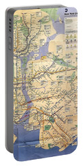 N Y C Subway Map Portable Battery Charger