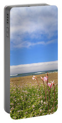 Portable Battery Charger featuring the photograph Naked Ladies At The Beach by James Eddy