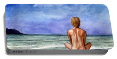 Naked Male Sleepy Ocean Portable Battery Charger