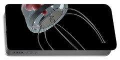 Nanobot Illustration On Black Portable Battery Charger