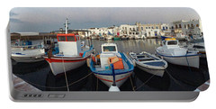Naoussa Village Island Greece Portable Battery Charger