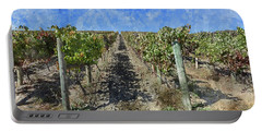 Napa Valley Vineyard - Rows Of Grapes Portable Battery Charger