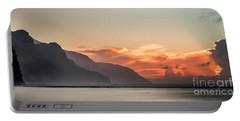 Napali Coast Kauai Hawaii Panoramic Sunset Portable Battery Charger