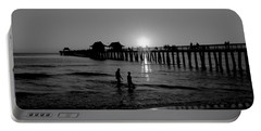 Naples Florida Pier Sunset Portable Battery Charger