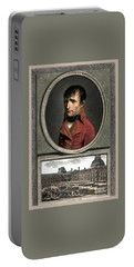 Portable Battery Charger featuring the painting Napoleon Bonaparte And Troop Review by War Is Hell Store