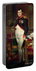 Napoleon Bonaparte In His Study At The Tuileries, 1812 Portable Battery Charger
