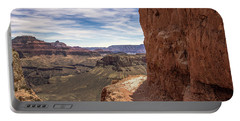 Narrow Trail On The South Kaibab Trail, Grand Canyon Portable Battery Charger