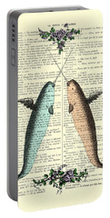 Narwhals In Love Portable Battery Charger