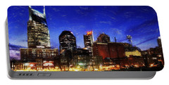 Nashville At Twilight Portable Battery Charger